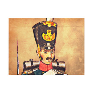 Swedish Military uniform's, 1834 post offices #3 Gallery Wrap Canvas