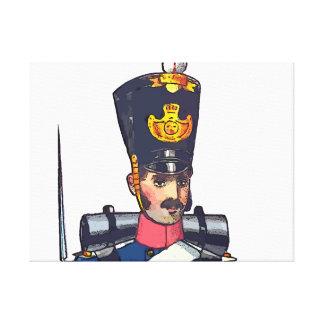 Swedish Military uniform's, 1834 post offices Canvas Print
