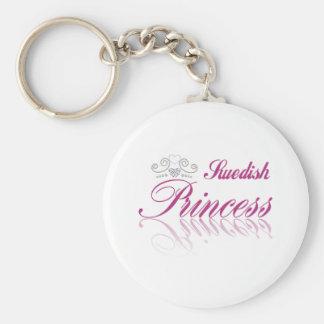 Swedish Princess Basic Round Button Key Ring