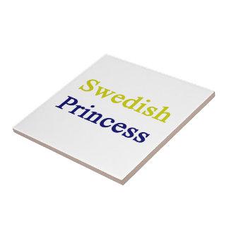 Swedish Princess Small Square Tile