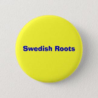 Swedish Roots 6 Cm Round Badge