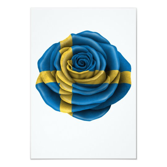 Swedish Rose Flag Card