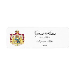 Swedish Royalty Personalize Return Address Label