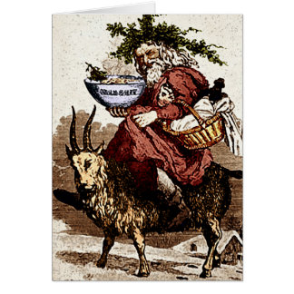 Swedish Santa & Christmas Goat Greeting Card