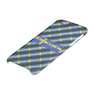 Swedish stripes flag clear iPhone 6/6S case