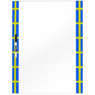 Swedish stripes flag dry erase board