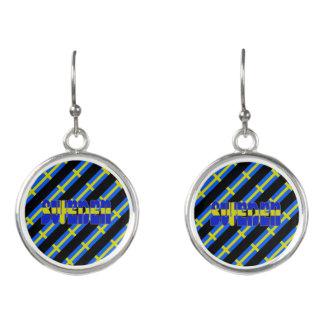 Swedish stripes flag earrings