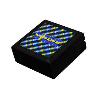 Swedish stripes flag gift box