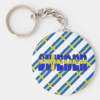 Swedish stripes flag key ring