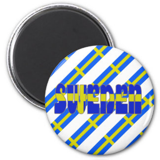 Swedish stripes flag magnet