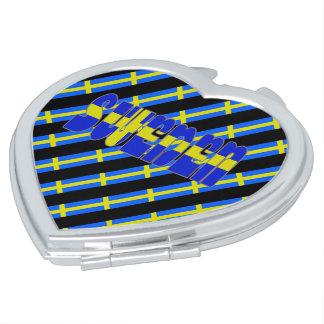Swedish stripes flag makeup mirror