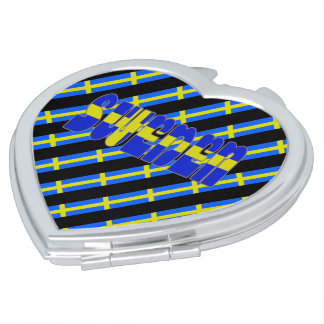 Swedish stripes flag mirror for makeup