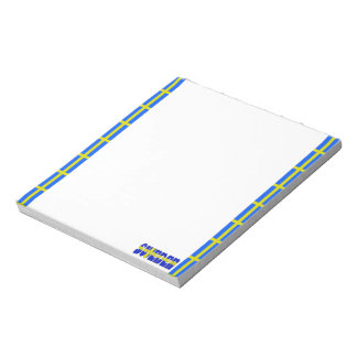 Swedish stripes flag notepad