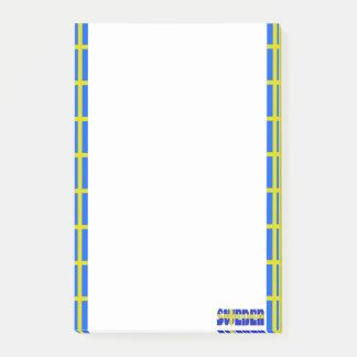Swedish stripes flag post-it notes