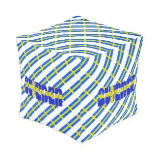 Swedish stripes flag pouf