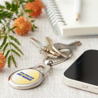 Swedish text flag key ring