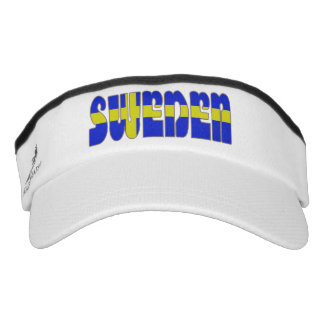 Swedish text flag visor