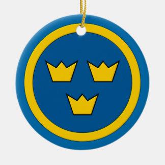 Swedish Three Crowns Flygvapnet Emblem Ceramic Ornament