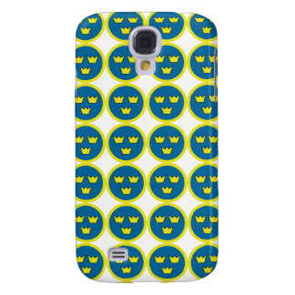 Swedish Three Crowns Flygvapnet Tile Pattern Galaxy S4 Cases