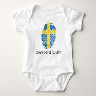 Swedish touch fingerprint flag baby bodysuit