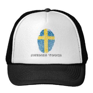 Swedish touch fingerprint flag cap