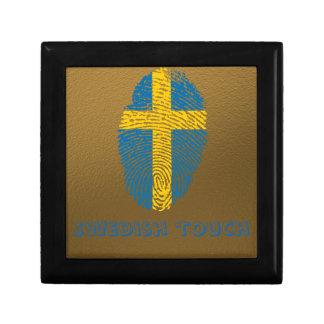 Swedish touch fingerprint flag gift box