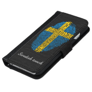 Swedish touch fingerprint flag iPhone 6 wallet case