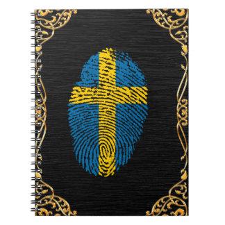 Swedish touch fingerprint flag note books