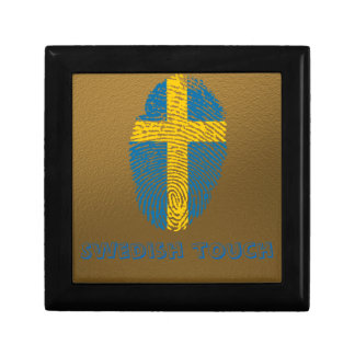 Swedish touch fingerprint flag small square gift box