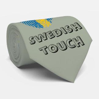 Swedish touch fingerprint flag tie