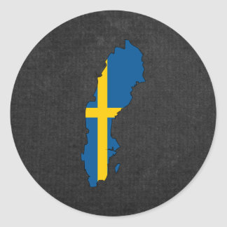 Swedish Trip Souvenir Classic Round Sticker