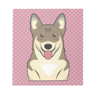 Swedish Vallhund Cartoon Notepad