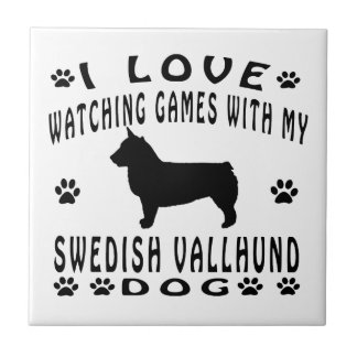 Swedish Vallhund Dog Design Small Square Tile
