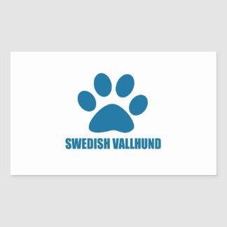SWEDISH VALLHUND DOG DESIGNS RECTANGULAR STICKER