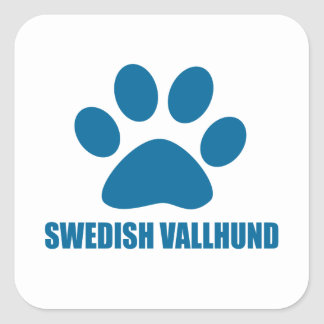 SWEDISH VALLHUND DOG DESIGNS SQUARE STICKER