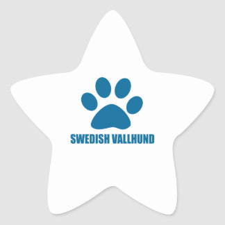 SWEDISH VALLHUND DOG DESIGNS STAR STICKER