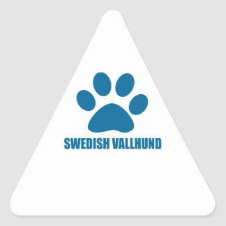 SWEDISH VALLHUND DOG DESIGNS TRIANGLE STICKER