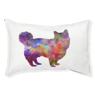 Swedish Vallhund in watercolor Pet Bed