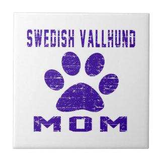 Swedish Vallhund Mom Gifts Designs Ceramic Tiles