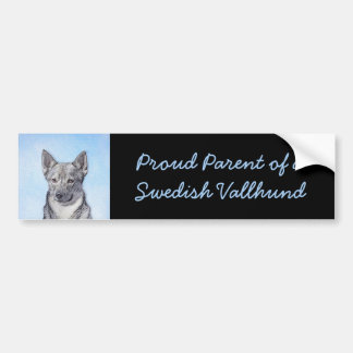 Swedish Vallhund Painting - Cute Original Dog Art Bumper Sticker