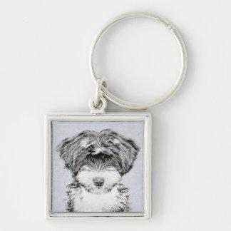 Swedish Vallhund Painting - Cute Original Dog Art Key Ring