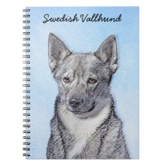 Swedish Vallhund Painting - Cute Original Dog Art Notebook
