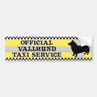 Swedish Vallhund Taxi Service Bumper Sticker