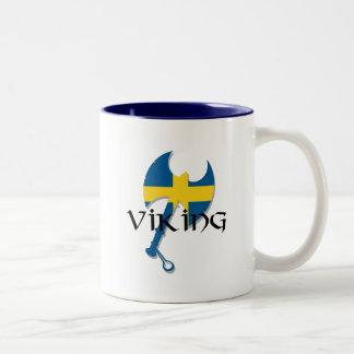 Swedish Viking Sweden flag Axe Coffee Mug