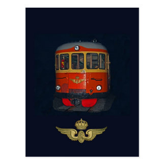 Swedish Vintage Railbus and vintage SJ brand Postcard