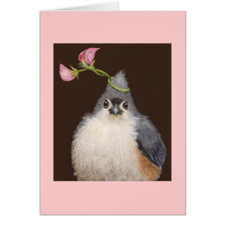 Swee' Pea the titmouse card