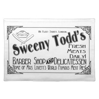 Sweeny Todd's Barber Shop & Delicatessen Place Mat