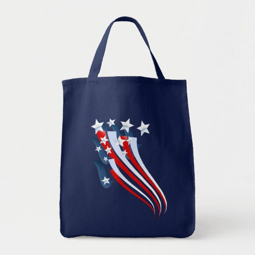 Sweeping American Flag Bag