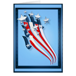 Sweeping American Flag Greeting Card