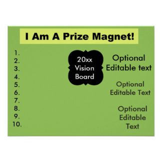 Sweepstakes Contest Vision Board Editable Poster